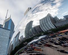 CloudGate_115224 (gpferd) Tags: bean building chicago cloudgate clouds construction landmark people reflection illinois unitedstates us