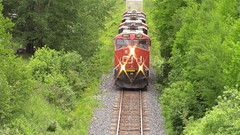 CN 121 passing through Lac Baker (MaineTrainChaser) Tags: cn 121 west westbound quebec new brunswick canada trains train