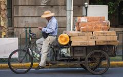 (seua_yai) Tags: asia china prc candid people wheels street chinashanghai2018 bike tricycle