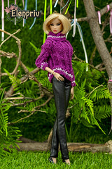 Hand-knitted sweaters and pullovers by ELENPRIV (elenpriv) Tags: handknitted sweaters pullovers elenpriv kyori sato quicksilver fashionroyalty fr2 12inch jasonwu integrity toys doll handmade clothes elena peredreeva