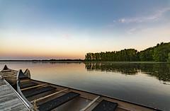 Make it Glow (Kevin Tataryn) Tags: lake canoe boat dock landscape evening nikon d500 1116