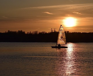 Sunset and solo sailing