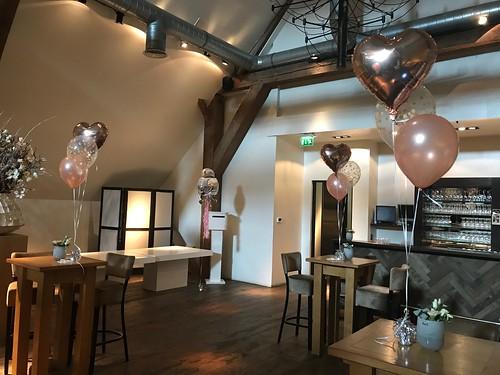 Tafeldecoratie 3ballonnen Heeren van Ambacht Hendrik Ido Ambacht