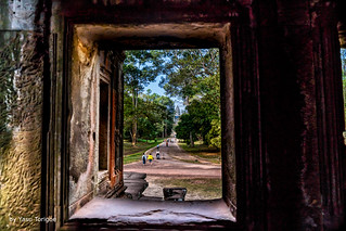 View of Center Tower of Angkor Wat from Ka Tou Entrance, Cambodia -13a