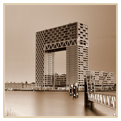 Pontsteiger building (Oguzhan Amsterdam) Tags: pontsteiger gebouw building amsterdam hetij ij pier photography neutral density nd leefilter 10stops longexposure long exposure oguzhan sepia