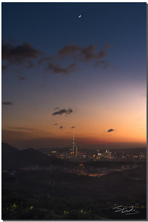 The city under the crescent moon, Taipei, Taiwan