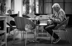 2018_167 (Chilanga Cement) Tags: fuji fujix100f monochrome bw blackandwhite coffee chairs man leisure
