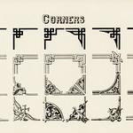 Ornamental corner designs from Draughtsman's Alphabets by Hermann Esser (1845–1908). Digitally enhanced from our own 5th edition of the publication. thumbnail