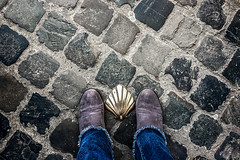 Hazard (Melissa Maples) Tags: brussel bruxelles brussels belgique belgië belgium europe apple iphone iphone6 cameraphone winter grey cobblestones pavement decoration brass me melissa maples selfportrait woman shoes jeans boots feet