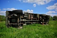 DSC_0005-01 (Stéphane Piegle) Tags: urbex exploration camion truck épave char militaire abandonné armée