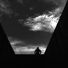 F_47A2203-3-BW-Canon 5DIII-Canon 16-35mm-May Lee 廖藹淳 (May-margy) Tags: maymargy 心情的故事 人像 背影 剪影 逆光 女兒牆 雲彩 幾何構圖 點人 街拍 streetviewphotography 線條造型與光影 linesformandlightandshadow 天馬行空鏡頭的異想世界 mylensandmyimagination 心象意象與影像 naturalcoincidencethrumylens portrait viewfromback silhouette backlighting f47a22033bw hualiencity canon5diii canon1635mm maylee廖藹淳 花蓮市 台灣 中華民國 taiwan repofchina