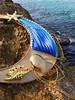 Shibori bead embroidery sea necklace by Martha Mollichella (La Casina di Tobia) Tags: shibori bead embroidery sea necklace by martha mollichella seashells silk seta collana wwwmarthamollichellacom