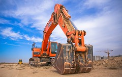 Low Angle Photography of Orange Excavator Under White Clouds - Credit to http://homedust.com/ (Homedust) Tags: bucket bulldozer clouds construction crane daytime engine equipment excavator heavy machine machinery metal outdoors sand scoop soil tractor