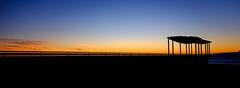 Morning silhouette (lizcaldwell72) Tags: water viewingplatform sky hawkesbay newzealand sunrise napier light