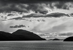 Howe Sound (martincarlisle) Tags: howesound bowenisland britishcolumbia canada tunnelpoint seatoskyhighway highway99 inlets fjord islands clouds canonm6 captureonepro11 tkactions blackandwhite monochrome nwn artinblackandwhite