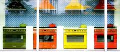 Reflections on cooking (Hans Veuger) Tags: nederland thenetherlands amsterdam amsterdamcentrum pietheinkade window showroom fornuizen cookers smeg hww nikon b700 coolpix nederlandvandaag twop