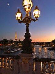 Alexandre III (romain.roussel) Tags: city france blue bluehour sea eiffel alexandre3 iphone bridge sunset night paris