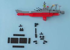 Space Battleship Yamato instructions 10 (Tino Poutiainen) Tags: lego legomoc legobuild blazers scale instructions scifi ship space star stand yamato photography photograph picture anime japan