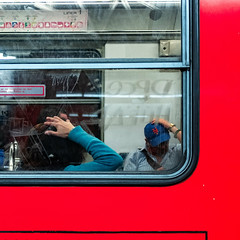 A day in the Mexico City Subway (Frederik Trovatten) Tags: streetphotography street streets streetphotographer streetphotos subway station metro transportation public fuji fujifilm x100f people wondering thinking two