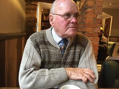 IMG_0784 Geoffrey Spafford at age 92 having Lunch at Wetherspoons The White Horse Pub in Brigg Lincolnshire (photographer695) Tags: geoff spafford english gentleman wwii war veteran royal engineers geoffrey age 92 having lunch wetherspoons the white horse pub brigg lincolnshire