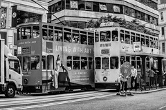 History is here - Hongkong 168/188 (*Capture the Moment*) Tags: 2017 hongkong menschen mobility mobilität people sonya7m2 sonya7mii sonya7mark2 sonya7ii sonyilce7m2 traffic tram verkehr