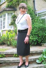 Marysteps-002 (fionaxxcd) Tags: cd tg ts ladyboy drag femmeboi mtf m2f transvestite tranny trannie crossdresser crossdressing xdresser xdressing longskirt bust breact nipples stilettos updo necklace