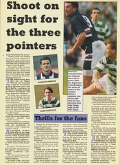 Scottish Football Today - August 1994 - Page 20 (The Sky Strikers) Tags: scottish football today magazine august 1994 one pound fifty theo snelders