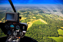 View from the R22 (primosavage) Tags: robinson r22 beta malvern hills robinsonr22beta helicopter twoseater rise staverton gloucestershire airport helicopters
