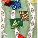 Illustration of Japanese motifs from Bijutsu Sekai (1893-1896) by Watanabe Seitei, a prominent Kacho-ga artist. Digitally enhanced from our own original edition.