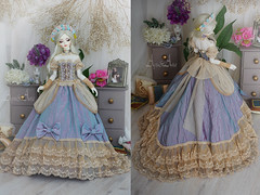 Princess Sissi (AyuAna) Tags: bjd ball jointed doll dollfie ayuana design minidesign handmade ooak clothing clothes dress set gown robe vetement fashion couture sewing sewingfordolls sd sd13 sd10 size historical victorian style littlemonica sophia whiteskin