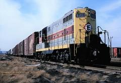EL 1237, Kearny, NJ. 2-12-1977 (jackdk) Tags: train railroad railway el erielackawanna erie cr conrail emd emdgp9 emdgp7 gp7 gp9 locomotive switcher switcherlocomotive