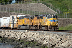 UP 5080 West at Hercules (lennycarl08) Tags: up5080 sd70m emd unionpacific unionpacificrailroad railroad trains eastbay