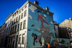Dream state (Melissa Maples) Tags: brussel bruxelles brussels belgique belgië belgium europe apple iphone iphone6 cameraphone winter building mural graffiti streetart art