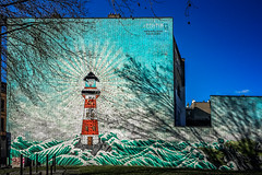 The full picture (Melissa Maples) Tags: brussel bruxelles brussels belgique belgië belgium europe apple iphone iphone6 cameraphone winter graffiti streetart art mural building lighthouse ognevvlaminck solocink