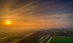Misty sunset in Noord-Holland. (Alex-de-Haas) Tags: dji dutch europa holland nederland nederlands netherlands noordholland noordhollandschkanaal phantom phantom4 phantom4pro uav warmenhuizen aerial aerialphotography air canal drone kanaal landscape landschaft landschap lente lucht luchtfotografie polder skies sky skyscape spring sundown sunset village water waterway waterweg zonsondergang nl