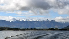 "Cascade and Kepler Mountains from Lake Manapouri (Christopher M Dawson) Tags: cascade kepler lake manapouri ""milford sound"" scenery nature wilderness mountain fiord sound ©2018cmdawson dawson travel international foreign tourism adventure new zealand ""new zealand"" sightseeing landscape water waterscape unesco"