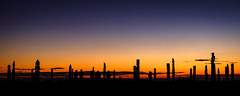 A time to remember those who have passed this way (ajecaldwell11) Tags: night sunrise ankh astrophotography water celestialcompass fujifilm light orange silhouette hawkesbay newzealand pou napier xe3 ateaarangi clouds sky matariki stars caldwell dawn constellations