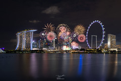 Singapore National Day 2018 Fireworks (tapanuth) Tags: fun river light celebration new happy bright holiday festive fire anniversary festival explosion display color burst show hotel night downtown ferriswheel singaporeflyer marinabaysands southeastasia independence 2018 colorful fireworks modern travel tourism event day national celebrate building waterfront asia architecture landmark urban cityscape bay marina city skyline singapore