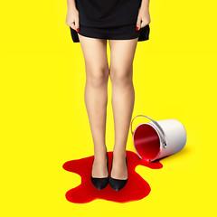 (Eric Bénier-Bürckel) Tags: yellow red conceptual minimal