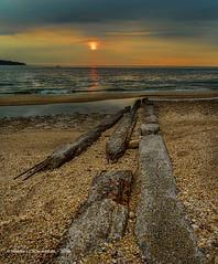 Hobart Beach Sunset - July 4th (HarrySchue) Tags: beach hobartbeach huntingtonny landscape seascape seashore sunset lisound sand rocks sea ocean nikon singhray reallyrightstuff sigmalens