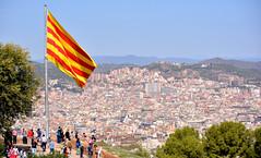 Barcelona (M McBey) Tags: catalonia catalunya spain espana flag barcelona independence politics city cityscape
