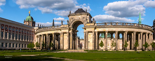 Pano view - Arch at University of Potsdam, Germany