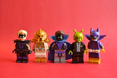 As Requested (th_squirrel) Tags: lego dc comics superheroes villains sportsmaster aztek doctor polaris ambush bug eyed bandit doctorpolaris ambushbug bugeyedbandit minifig minifigs minifigures minifigure