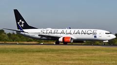 SAS (Star Alliance) Boeing 737-883 LN-RRL (StephenG88) Tags: manchesterairport southside man egcc 23l 23r boeing airbus 5llanding landing touchdown 3rdjuly2018 3718 7318 sas scandinavianairlines sk scandinavian staralliance 737 738 737800 737883 lnrrl