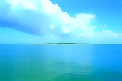 Seascape (pjpink) Tags: eclectic colorful capelookout blue posterized northcarolina nc carolina coastal crystalcoast may 2018 spring pjpink 2catswithcameras