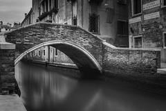 Immortal (blondmao) Tags: bridge water brick italy venice venezia canal monochrome dark veneto bw channel longexposure blackandwhite fineart bnw