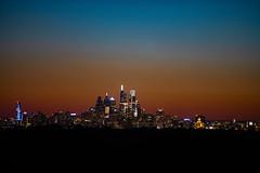 Philadelphia Skyline After Sunset (Brian E Kushner) Tags: philadelphia skyline philadelphiaskyline haddon township new jersey night photography cityscape ©brianekushner nikon d850 nikond850 nikon70200mmf28 70200mm f28 nikor