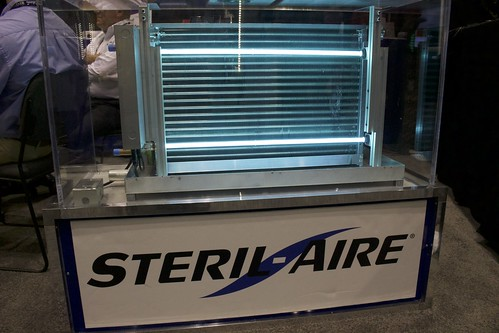 Steril-Aire partnered with REYCO Systems to show off its UVC solutions for air and surface decontamination.