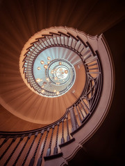 The Cecil Brewer Staircase (Timothy Gilbert) Tags: stairs spiral ultrawide wideangle london healsspiralstaircase m43 microfourthirds panasonic laowacompactdreamer75mmf20 microfournerds cecilbrewerstaircase gx8 heals lumix