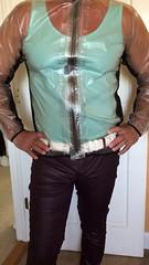 clear rain jacket (rainwear1) Tags: rainjacket pvcjacket raincoat clearrainjacket